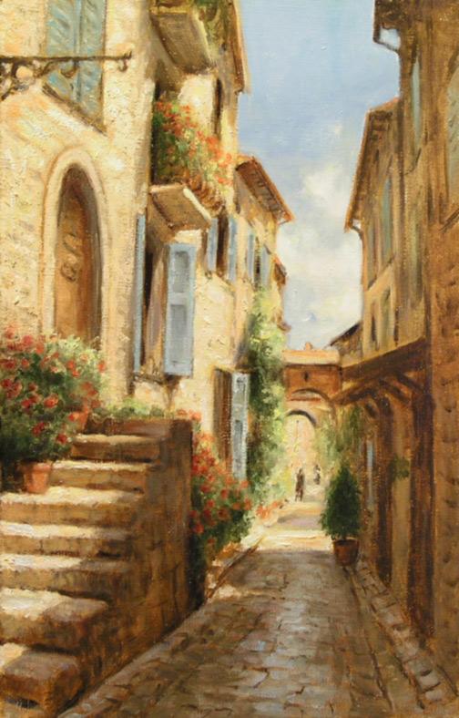 Obrazy Urokliwe Zakatki Prowansji Toskanii Realizm